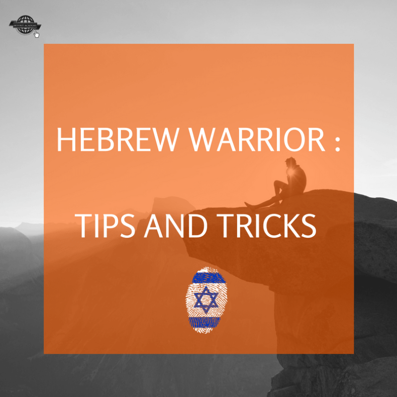 Hebrew Tips and Tricks , brought to you by The Hebrew Warrior at Skyvrit
